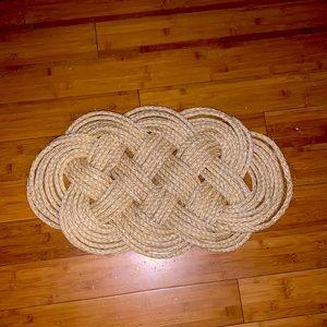 Handmade rope knot rug